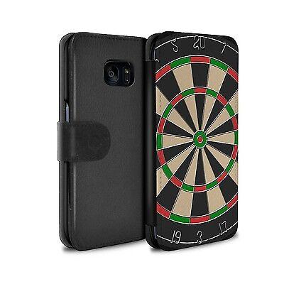 PU-Leder Hülle/Case für Samsung Galaxy S7 Edge/G935/Darts/Dartpfeile/Spiele