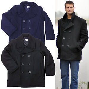 us navy pea coat xs 5xl marine mantel wolle wintermantel kurzmantel caban colani ebay. Black Bedroom Furniture Sets. Home Design Ideas