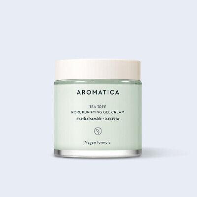 Aromatica Tea Tree Pore Purifying Gel Cream 3.38oz /100ml Vegan K-Beauty