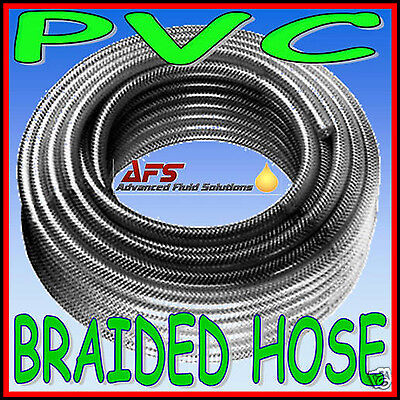 Clear Braided Pvc Hose - Reinforced CLEAR PVC Braided Hose Water Pipe Flexible Plastic Food Air Oil Tube