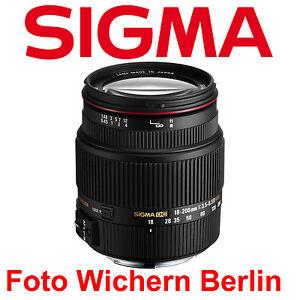 Sigma 18-200 mm F3,5-6,3 II DC OS HSM Objektiv für Canon EOS  NEU