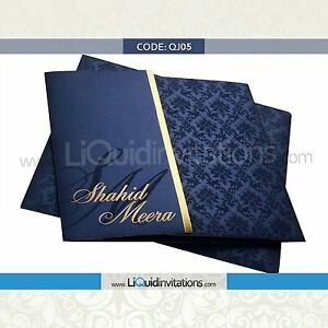 NEW Muslim Indian Hindu Sikh Asian Wedding Cards Invitations Upto 500