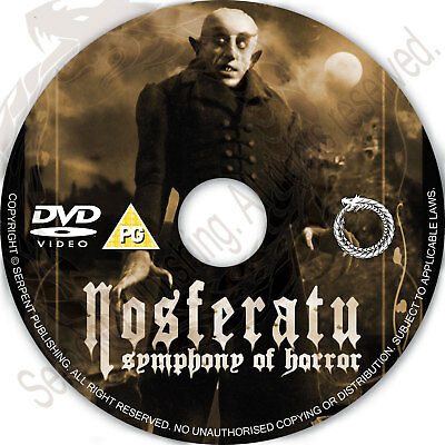 NOSFERATU 1922 Fantasy Horror Movie Film on DVD Region free Halloween Gift - Films On Halloween