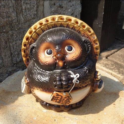pottery raccoon dog Shigaraki ware Tanuki figurine lucky charm ceramic tanuki 1