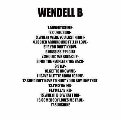 DJ Greg Nasty - Wendell B