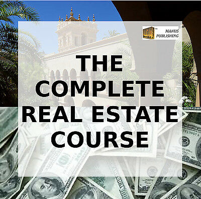 The Complete Real Estate Course - Audio Video Bks Training Earn Residual Income!