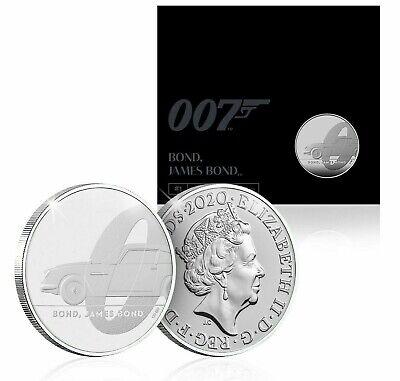 Official James Bond Coin 2020 Royal Mint BU £5 Five Pound Aston Martin Edition