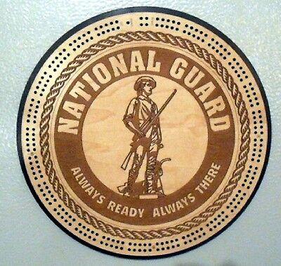 Guard Emblem - National Guard Emblem Cribbage Board Army