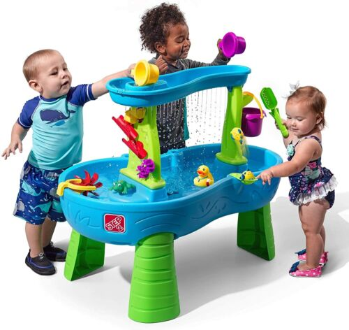 Step2 Rain Showers Splash Pond Water Table | Kids Water Play Table with 13-Pc