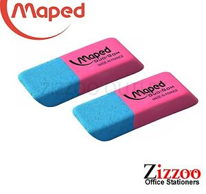 MAPED INK & PENCIL ERASERS -  TWIN PACK - GREAT PRODUCT & PRICE + FREE P&P!