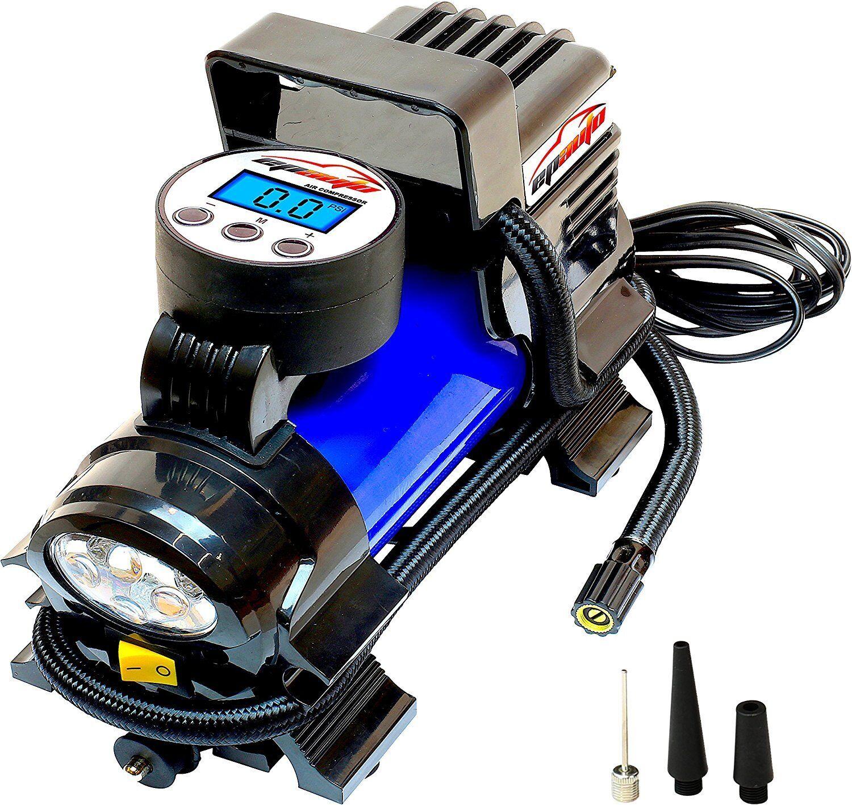 12V Air Compressor Pump Digital Tire Inflator Led Flashlight