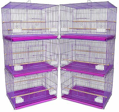 "NEW Lot of 6 Aviary Breeding Breeder Bird Cages 24x16x16""H Lavender-257"