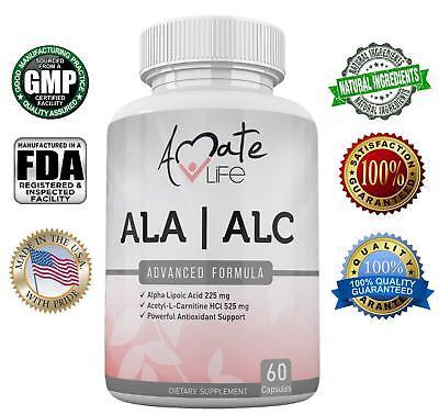 ALA/ALC High Potency Formula - Alpha Lipoic Acid & Acetyl-L-Carnitine - 60 Count Formulas Alpha Lipoic Acid