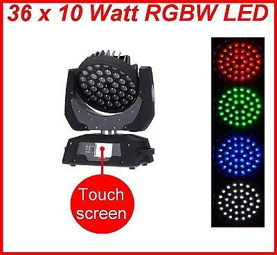 4 Stück 36x 10 Watt 4in1 RGBW LED Zoom Moving Head Wash Scheinwerfer Zubehör TOP