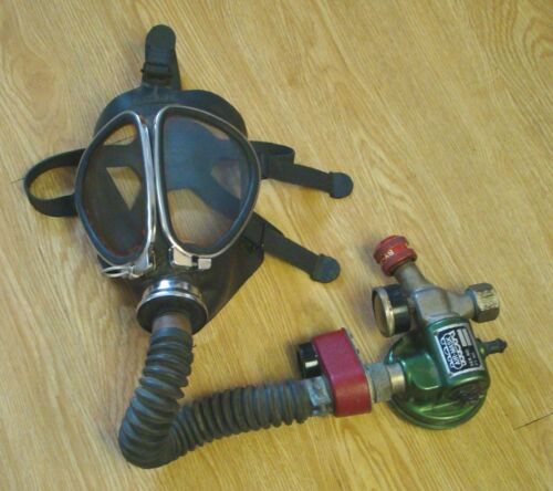 Vintage 1940s Acme MSA Air Mask & Regulator breathing apparatus firefighting gas