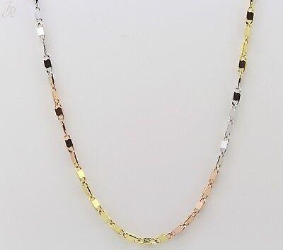 Damen Collier Halskette Kette echt Gold 333 tricolor 8kt 45 cm 109258