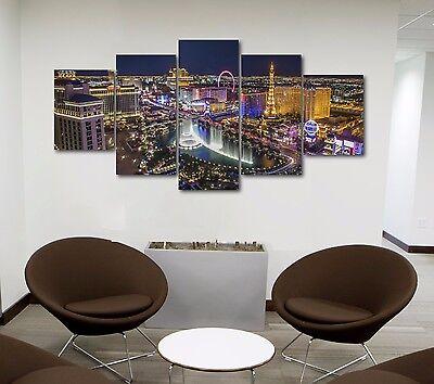 Large Size Las Vegas Five Piece Canvas Print Wall Decor  - Las Vegas Decorations