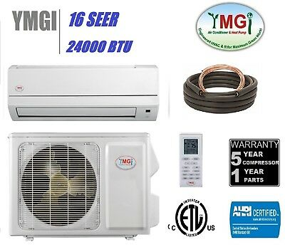 YMGI 24000 BTU DUCTLESS MINI SPLIT AIR CONDITIONER WITH HEAT PUMP One Zone NMK