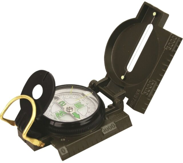 MILITARY ARMY COMPASS SAS survival solid green metal hiking camping heavy duty