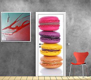 Sticker pour porte d co cuisine macaron r f 726 ebay - Stickers porte de cuisine ...