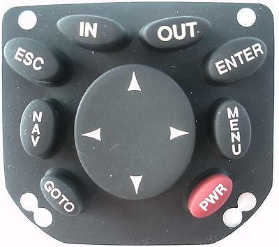 Magellan Meridian Yellow Handheld Gps Replacement Keypad Buttons -black -