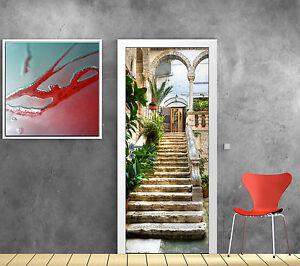 Stickers pour porte trompe l 39 oeil d co escalier r f 766 ebay - Stickers pour escalier ...