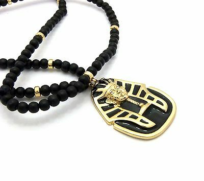 GOLD PLATED EGYPTIAN KING TUT PENDANT W/ 30