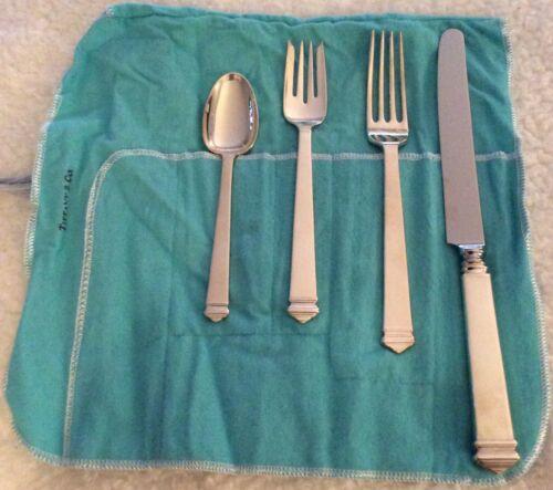 Tiffany & Co. Four-Piece Sterling Silver Flatware. Pattern: Hampton.
