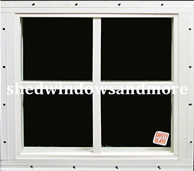 Playhouse Safety Glass Window 12x12 Square White Flush #PH1212W-S, Shed Windows