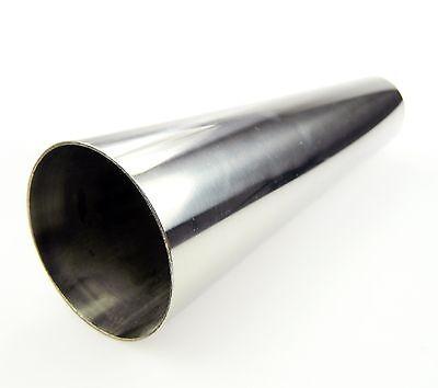 TA TECHNIX ENDROHR AUSPUFFBLENDE EDELSTAHL UNIVERSAL 70mm RUND SCHARF