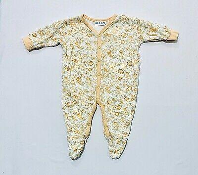Under the Nile 100% Organic Cotton Orange Yellow Floral Print Pajama Sleeper, -