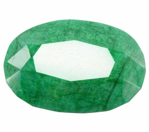 Natural 1011 Ct Oval Shape Colombian Certified Green Emerald Loose Gemstone