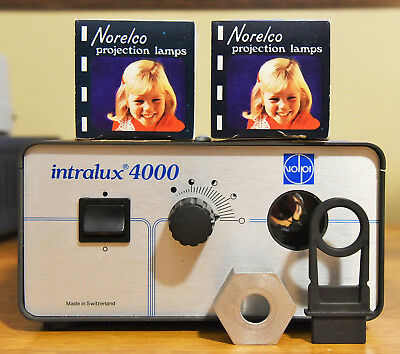 Volpi Intralux 4000 Microscope Fiber Optic Light Source W2 Bulbs Great Shape