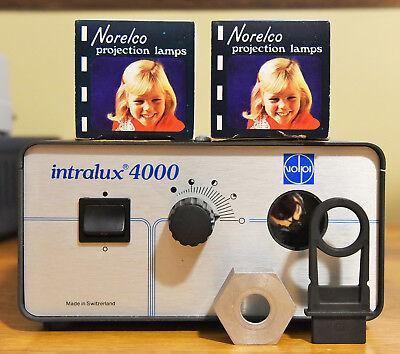 Volpi Intralux 4000 Microscope Fiber Optic Light Source W2 Bulbs Great Shape