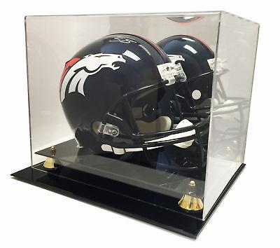 Deluxe Full Size Football Helmet Display UV Case w/ Mirror - Brand -