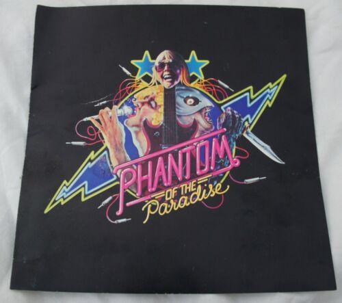 Vintage Phantom of the Paradise Program Notes Credits 20th Century Fox Press Kit