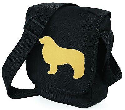 Leonberger Bag Shoulder Bags Metallic Gold Dog on Black Bags Handbag Xmas Gift