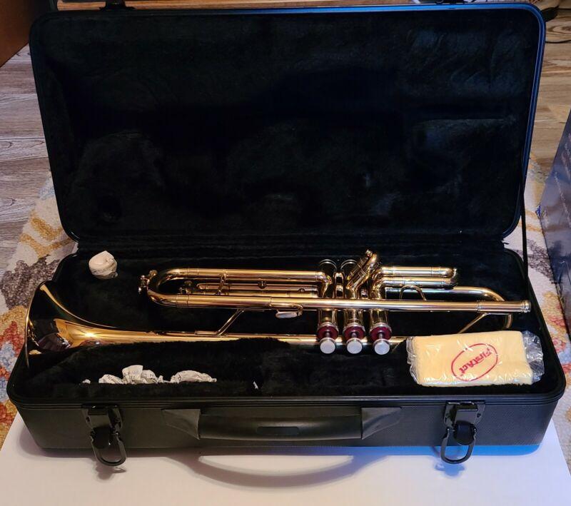 First Act B-flat BrassTrumpet in Original Hard Case & Original Unopened Stand