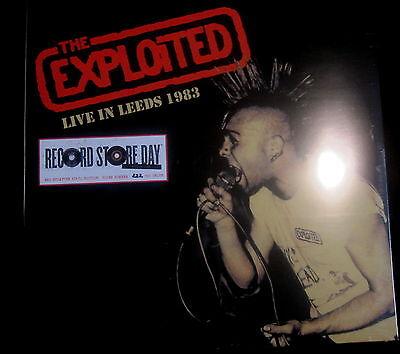 THE EXPLOITED Live in Leeds 1983 - LP / Red Splatter Vinyl - RSD 2016