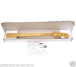 GENUINE FENDER MEXICAN REPLACEMENT MAPLE JAZZ J BASS NECK 099-6202-921 MED JUMBO