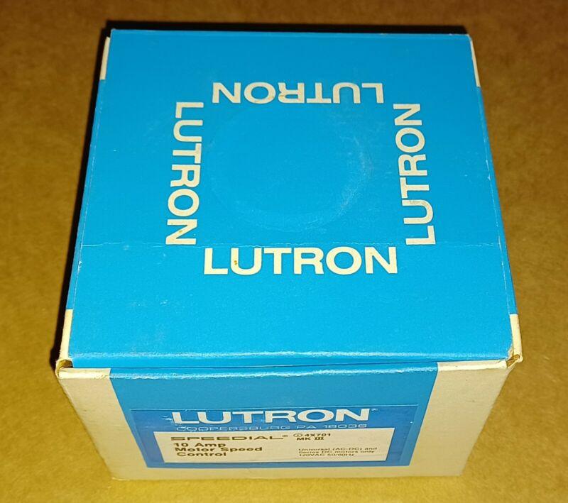 Lutron MK3 Speedial 10 Amp Motor Speed Controller 120V