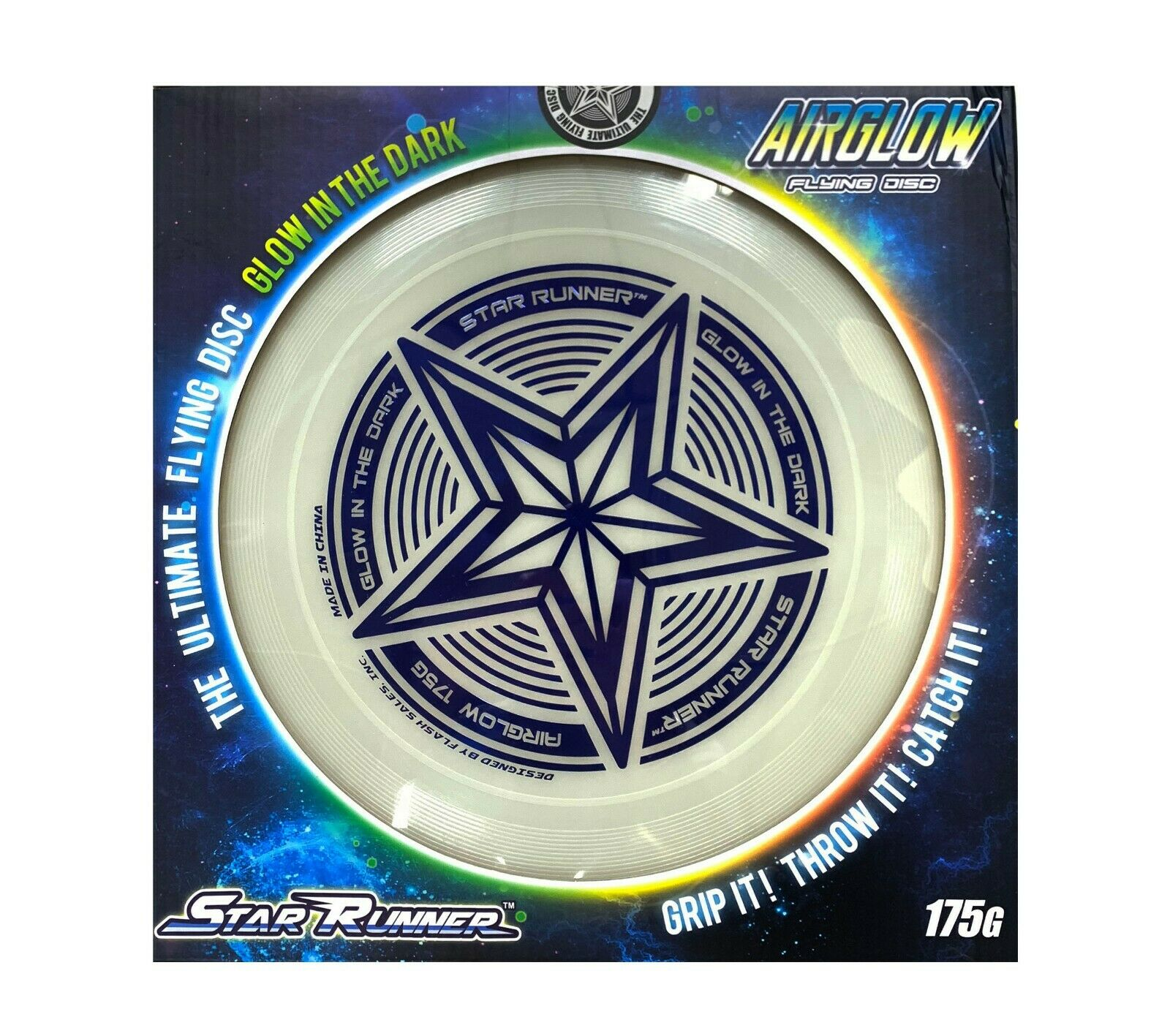 12 175g glowing flying disc by glow