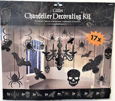 XL Halloween Hängedekoration Zimmerdekoration Kronleuchter Fledermaus Rabe - Fledermaus Dekorationen