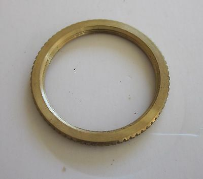 Mortise Cylinder Brass Lock Nut Ring Made In The Usa