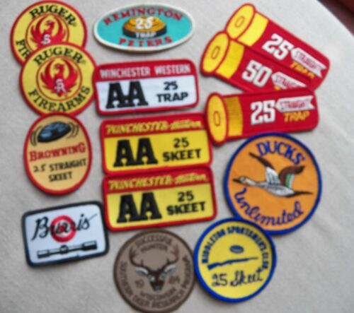 BIG LOT  Skeet Trap Straight Shooting Patches - Winchester  Browning Ruger  Etc.
