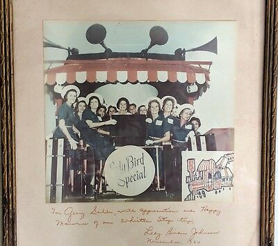 LADY BIRD JOHNSON 1964 Special Whistle Stop Inscribed Signed Train Tour