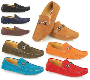 Brit-Man-Mens-Designer-Loafers-Mocassins-Driving-Shoes-Size