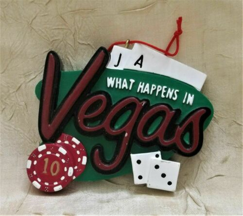 What Happens In Vegas Resin Christmas Ornament Chips Cards & Dice Nevada