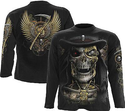 aper schwarz M011M301 Shirt Langarm Gothic Halloween Cosfee (Steampunk Arm)