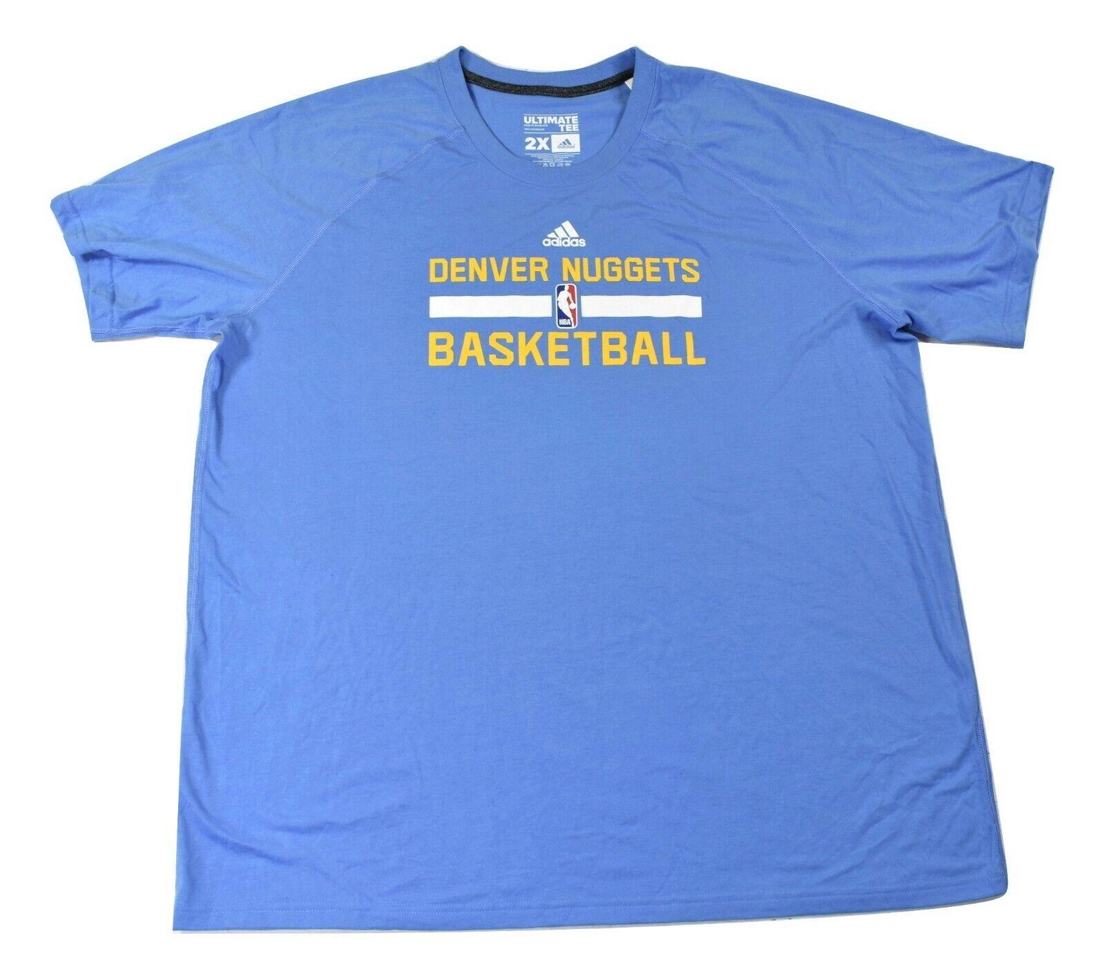 adidas Mens NBA Denver Nuggets Basketball Shirt New XLT, 2XL
